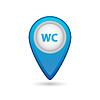 Векторный клипарт: Указатель на карте