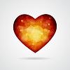 Векторный клипарт: Polygonal сердце