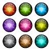 Векторный клипарт: Набор стилизованных глянцевых кнопок