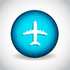Векторный клипарт: Самолет на земном шаре