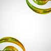 Векторный клипарт: кинопленка из цветов радуги на фоне из клякс