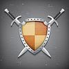 Векторный клипарт: Два щит и меч