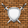 Два щит и меч | Векторный клипарт