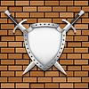 Dwa miecz i tarcza | Stock Vector Graphics