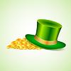 Hintergrund mit grünen Hut und Gold
