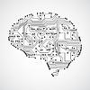 Векторный клипарт: Стилизованный ум