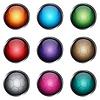 Векторный клипарт: Установите стилизованные глянцевые кнопки