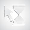 Векторный клипарт: Курсор бумаги с песочными часами