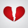 Векторный клипарт: Рваный сердце бумаги