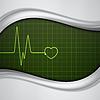 Векторный клипарт: Сердце импульсов монитор