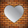 Векторный клипарт: Кирпичная стена с сердцем