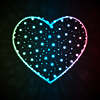 Векторный клипарт: Фон с горящими в форме сердца