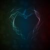 Векторный клипарт: Светящиеся дыма сердце