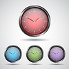 Векторный клипарт: Набор иконок часы