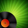 Векторный клипарт: Фон с виниловой пластинки