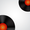 Векторный клипарт: Фон с виниловых пластинок
