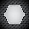 Векторный клипарт: Металл круговая сетка