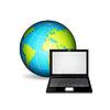 Векторный клипарт: Ноутбук с планеты