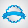 Векторный клипарт: Синий значок с лентой