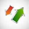 Arrows with metallic frame | Stock Vector Graphics