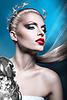 ID 4777577 | Blonde Kaiserin Frau mit roten Lippen und Lorbeerkranz | Foto mit hoher Auflösung | CLIPARTO