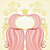 Einladung, Geburtstag oder Hochzeitskarte. Princess-Stil