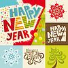 Frohes Neues Jahr-Schriftzug Grußkarte