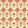Herbst nahtlose Muster mit Pilzen