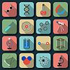Wissenschaft-Icons