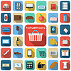 Shopping icons Sammlung
