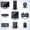 Computer und Peripheriegeräte Vektor-Icons