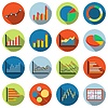 Business und Finanzstatistiken Symbole