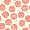Nahtlose Muster mit doodle Essen und Getränke