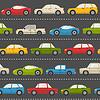 Векторный клипарт: Бесшовные с автомобилями