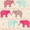 Romantische nahtlose Muster mit Elefanten