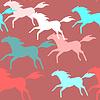 Laufende Pferde nahtlose Muster