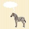 Векторный клипарт: Поздравительная открытка с зеброй