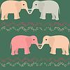 Nahtloses Muster mit Elefanten und Herzen