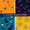 Векторный клипарт: Хэллоуин бесшовные модели коллекции