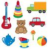 Set von Spielzeugen | Stock Vektrografik