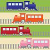 Векторный клипарт: Бесшовные с красочными поездов