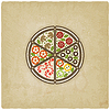 Pizza old background | Stock Vector Graphics