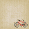Retro striped background with bicycle | Stock Vector Graphics