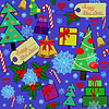 Новый год цветных бесшовных шаблон | Иллюстрация