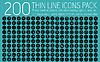 Sammlung dünne Linien Piktogramm Icon Set Konzept