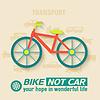 Wohnung Fahrrad Hintergrund Konzept. Tamplate für Web-
