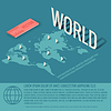 Weltkarte Business-Hintergrund Konzept. desig