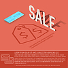 Verkauf Karte Business-Hintergrund Konzept. desig