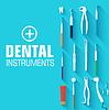 Flachzahnärztliche Instrumente Set Designkonzept