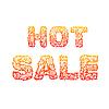 Feuer heißer Verkauf Text auf rotem Hintergrund Konzept. desig